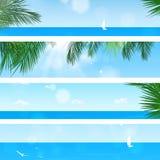 Insegne della spiaggia di Tropica Immagini Stock