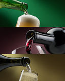 Insegne delle bevande alcoliche messe Immagine Stock Libera da Diritti