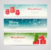 Insegne di Buon Natale messe Fotografie Stock