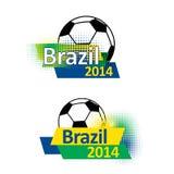 Insegne 2014 di calcio del Brasile Immagini Stock Libere da Diritti