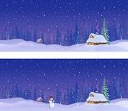 Insegne di notte di Snowy royalty illustrazione gratis