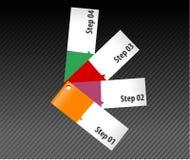 Insegne di opzioni di punto ed opzioni dati/infographic illustrazione di stock