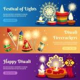 Insegne di orizzontale di Diwali illustrazione vettoriale