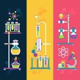 Insegne di progettazione di chimica royalty illustrazione gratis