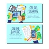 Insegne di progettazione di sistema della Banca royalty illustrazione gratis