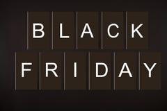 Insegne di promo di Minimalistic per l'evento nero di acquisto di vendita di venerdì immagini stock libere da diritti