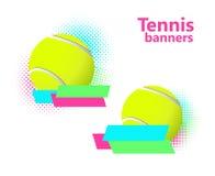 Insegne di semitono di vettore di tennis Immagine Stock Libera da Diritti