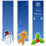 Insegne di verticale di Natale Immagine Stock Libera da Diritti