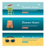Insegne di vettore di vacanza e di viaggio Fotografia Stock