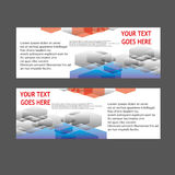 Insegne di vettore, insegne di web delle intestazioni Fotografia Stock
