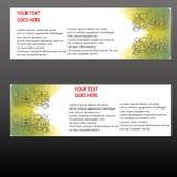 Insegne di vettore, insegne di web delle intestazioni Fotografie Stock
