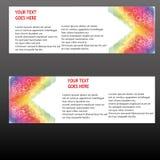 Insegne di vettore, insegne di web delle intestazioni Fotografie Stock Libere da Diritti