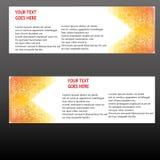 Insegne di vettore, insegne di web delle intestazioni Fotografia Stock Libera da Diritti