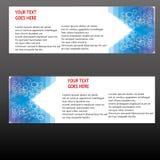 Insegne di vettore, insegne di web delle intestazioni Immagini Stock Libere da Diritti