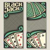 Insegne di vettore per il black jack Fotografia Stock Libera da Diritti