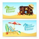 Insegne di viaggio di estate Immagine Stock