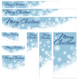 Insegne di web di Natale dei fiocchi di neve Fotografie Stock Libere da Diritti