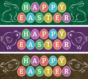 Insegne di web di saluti per il giorno di Pasqua royalty illustrazione gratis