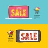 Insegne di web di vendita di estate Fotografie Stock