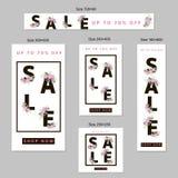 Insegne di web di vendita messe Fotografie Stock