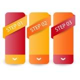 Insegne, etichette o etichette vuote di web per la vostra pubblicità Fotografie Stock