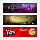 Insegne felici delle collezioni di Halloween royalty illustrazione gratis