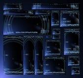 Insegne futuristiche di ciao-tecnologia Fotografia Stock Libera da Diritti
