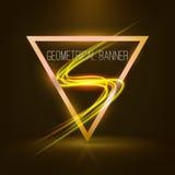 Insegne geometriche con le luci al neon Fotografie Stock