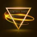 Insegne geometriche con le luci al neon Fotografie Stock Libere da Diritti