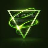 Insegne geometriche con le luci al neon Fotografia Stock