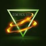 Insegne geometriche con le luci al neon Fotografia Stock Libera da Diritti
