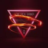 Insegne geometriche con le luci al neon Immagini Stock Libere da Diritti