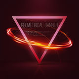 Insegne geometriche con le luci al neon Immagine Stock Libera da Diritti