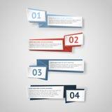 Insegne infographic di origami di vettore messe Immagini Stock Libere da Diritti