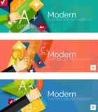 Insegne infographic di progettazione piana moderna Immagini Stock