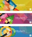 Insegne infographic di progettazione piana moderna Immagine Stock