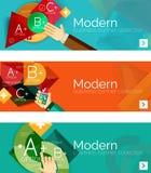 Insegne infographic di progettazione piana moderna Fotografie Stock