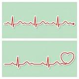 Insegne mediche del cardiogramma Fotografie Stock Libere da Diritti