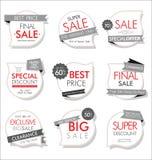 Insegne moderne di vendita e raccolta moderna delle etichette Illustrazione Vettoriale