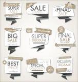 Insegne moderne di vendita e raccolta moderna delle etichette Royalty Illustrazione gratis