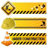 Insegne orizzontali in costruzione Fotografie Stock