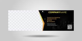 Insegne orizzontali design-06 moderno semplice di affari illustrazione vettoriale