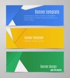 Insegne orizzontali variopinte semplici di vettore in una progettazione materiale royalty illustrazione gratis