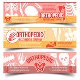 Insegne ortopediche con le ossa dell'essere umano dei raggi x royalty illustrazione gratis
