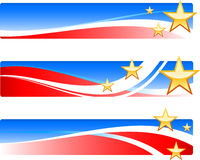 Insegne patriottiche di festa dell'indipendenza Fotografia Stock Libera da Diritti