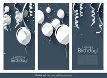 Insegne piane di compleanno Fotografie Stock