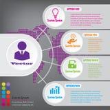 Insegne pulite di numero di progettazione moderna con il concetto di affari usato per la disposizione del sito Web Infographics immagini stock