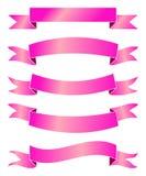 Insegne rosa del nastro Fotografie Stock Libere da Diritti