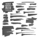 Insegne, spazzola, linee e macchie dell'indicatore Fotografia Stock