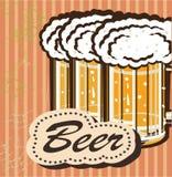 Insegne sull'argomento con birra Fotografia Stock Libera da Diritti